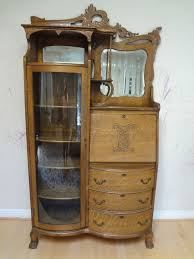 antique american art nouveau oak secretary desk display unit ca 1905
