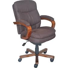 office chair fabric. La-Z-Boy Faye Fabric Managers Office Chair, Fixed Arms, Chocolate ( Chair