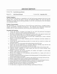 General Managerample Job Description Restaurant Resume Hotel