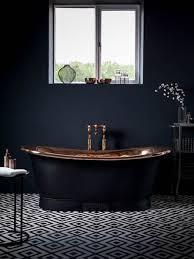 Bathroom: Black Tub And White Decor - Bathtub Designs