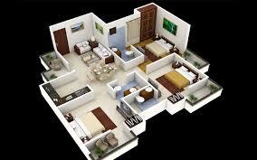 3 Bedroom House Plans 3D Design