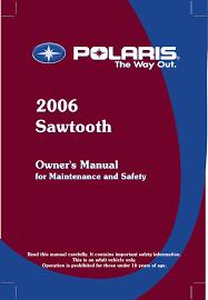 Polaris Lube Specification Chart Polaris Sawtooth Users Manual Manualzz Com