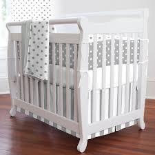 navy deer woodland mini crib bedding gray and white dots and stripes mini crib bedding