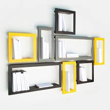 wallmounted shelf  contemporary  metal  lacquered metal
