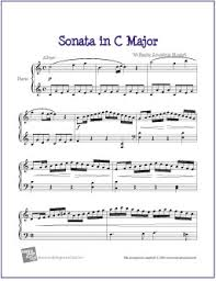 mozart piano sonata sheet music piano sonata in c major k 545 mozart free easy piano sheet music