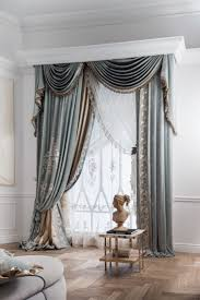 cornice with swags curtain panels chicca orlando versailles