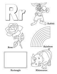 Alphabet Letter R Coloring Page Alphabet Letterr Coloringpages