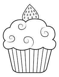 Instant download 5 pages halloween cupcakes part2 8.5 x 11 these 5 halloween cupcake pages are. Printable Strawberry Cupcake Coloring Page