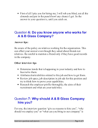 why should we hire you interview question top 7 a b glass company interview questions and answers