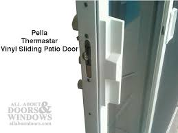 exterior sliding door locks. pella patio door handle kit, thermastar vinyl sliding - white exterior locks