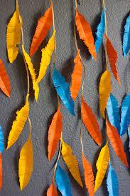 the prettiest diy feather wall decor