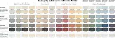 Dulux Pearl Effects Colour Chart Dulux Heritage Dh Pearl Colour