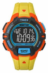 timex watches official uk retailer first class watches timex mens indiglo iron man rugged alarm chronograph yellow orange tw5m02300
