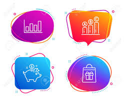 Report Diagram Graph Chart And Saving Money Icons Simple Set