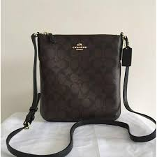 Authentic Coach North South Crossbody in Signature Brown - F35940