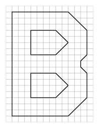 Graph Paper Alphabet Letters A Z