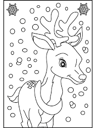 Kerstman Met Slee En Rendieren Kleurplaat Kleuren Nu Rendieren Voor