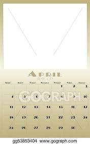 Drawing Monthly 2010 Calendar Clipart Drawing Gg53853404 Gograph