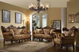 brown sofa sets. Sofa Loveseat Chair In Golden Brown Fabric. Also Features Cherry / Gold Wood Trim Which Makes Your Family Room Set An Antique Piece To Home. Sets