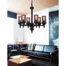vivian 6 light rust chandelier
