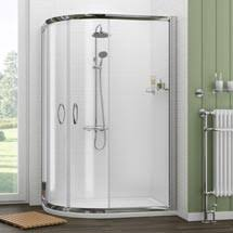 Plain Curved Shower Enclosures Uk Newark Offset Quadrant Enclosure Pearlstone In Decorating Ideas