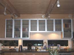 Fabulous Glass Kitchen Cabinets Door With Stainless Frame Design