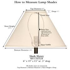 How to measure lamp shade Dimensions Sh126eb Medallion Lighting Medallion Lamp Shades