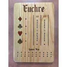 wooden euchre board