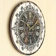 office wall clocks large. large wall clock tracery vintage rustic shabby chic home office cafe decor art clocks