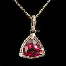 details about 18k rose gold gf made with swarovski crystal heart pendant necklace