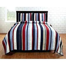 rugby stripe quilt navy blue stripe quilt ht 4 piece boys color rugby stripes quilt set