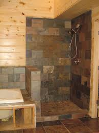 Enchanting Bathroom Rustic Shower Ideas Best Only On Cabin Bathrooms