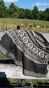 Thistle Knitting Chart Fair Isle Thistle Cape Pattern