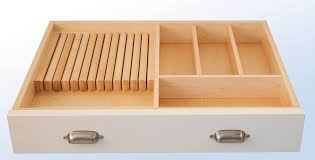 Combination Knife Block and Flatware Divider
