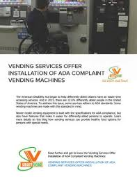 Ada Vending Machine Requirements Delectable Vending Services Offer Installation Of ADA Compliant Vending