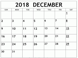 December Calendar Excel December Calendar 2018 Template Printable Excel Archives Hasttag