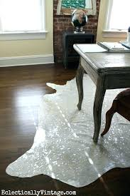 metallic cowhide rug rugs office makeover love the devour nz metallic cowhide rug
