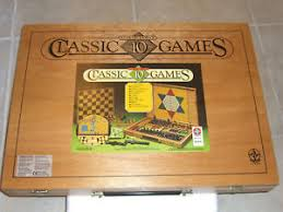 Vintage Wooden Board Games 1000'S Vintage WOODEN CASE 100 CLASSIC BOARD GAMES MINT QUALITY 23
