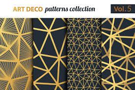 Art Patterns Mesmerizing Art Deco Vector Patterns Set 48 Graphic Patterns Creative Market
