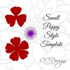 poppy template small poppy paper flower template catching colorflies