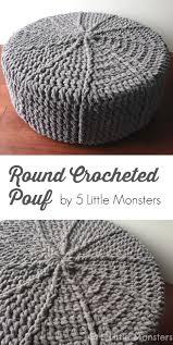 5 Little Monsters: Round Crocheted Pouf  Easy Crochet PatternsKnitting ...