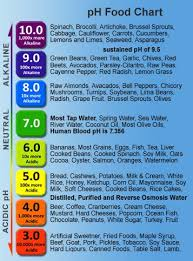 Ph Balance Food Chart Most Popular Ph Level Chart For Food 2019