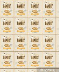 Vintage Bakery Poster Vector Illustration Wallpaper Vinyl Custom Made