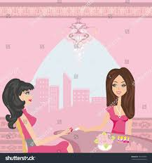Jacky Hair Design Girl Doing Manicure Beauty Salon Stock Vector Royalty Free