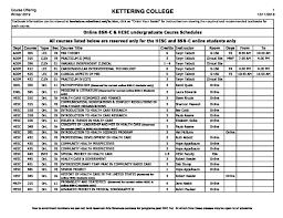 Wi 19 Bsn C Hesc Online Class Schedule 12 11 Kettering College