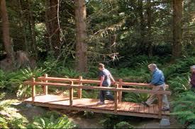 how to build a wooden foot bridge diy