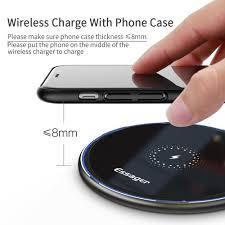 Đế sạc nhanh không dây ESSAGER 15W Qi sạc không dây dùng cho iPhone 12 11  Pro X XR XS Max 8 xiaomi mi 10t pro HUAWEI Samsung S20 kèm cáp Type-C