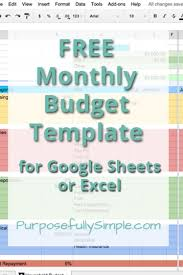 budget sheet template free monthly budget template purposefully simple