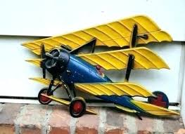 metal airplane wall decor vintage art model ton made flat canvas