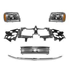 Grille Header Panel & Headlight Kit for Chevy Trailblazer EXT | eBay